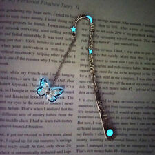 Luminous Butterfly Shaped Bookmark Vintage Metal Book Mark Label Accessories