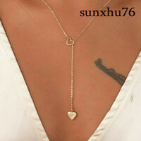 For Women Jewelry Long Chain Collares Fashion Heart Choker Pendants Necklaces