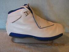 NDS! NIKE AIR JORDAN 18 WHITE/SILVER/SPORT ROYAL W/ ALL OG ACCESSORIES, SIZE 13