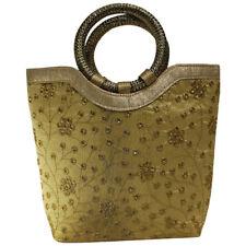 Swank Bags Small Silk Tote Handbag  Jari embroidered all over the body AB-CB39