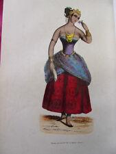 COSTUME OCEANIE / Dame Javanaise de la haute classe  1847 rehaussée de couleurs