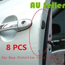8 PCS Clear Car Side Door Edge Defender Protector Trim Guard Protection Strip AU