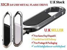 32GB FLASH PEN DRIVE USB 2.0 METAL SWIVEL KEY CHAIN  FANCY FOR CHRISTMAS GIFT