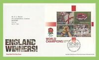 G.B. 2003 Rugby Miniature sheet on Royal Mail First Day Cover, Tallents House