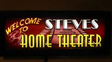 "24"" HOME MOVIE THEATER SIGN -LED -PERSONALIZED HOME THEATER FEATURE PRESENTATION"
