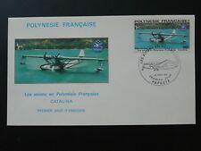 aircraft seaplane Catalina FDC French Polynesia 80413