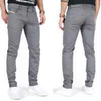 Diesel Herren Slim Skinny Fit Stretch Röhren Stoff Hose Jeans | Troxer Grau