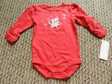 NWT Gymboree Cozy Kitty Red Leopard Kitty Let it Snow Bodysuit 6-12 18-24 months