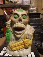 Vintage 1987 Coleco Mash Ems Double Header Foam Chainsaw Wielding Skeleton