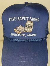 Maine Potato Harvest Barrel Basket Leavitt Farms Limestone Baseball Mesh Hat Cap