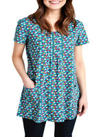 SEASALT GREEN Footpath Floral Busy Lizzy Tunic Dress/Top Organic Cotton RRP £40