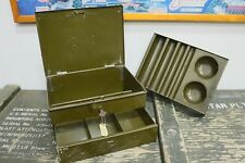 Vintage Metal Money Cash Box with Removable Tray & Key
