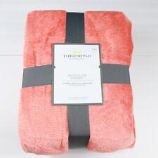Threshold Microplush Bed Throw Blanket Soft Orange Carmel King Size