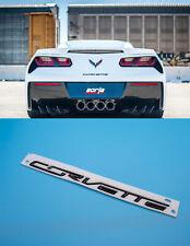 2014+ Corvette Carbon Flash Black Rear Trunk Bumper Letter Name Emblem 22996232