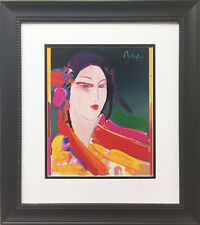 "Peter Max ""Asia"" 1998 Newly CUSTOM FRAMED Print Art POP psychedelic Asian geisha"