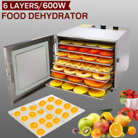 HOMDOX Food Dehydrator 5/ 6-Tier Stainless Steel Fruit Jerky Meat Dryer Blower