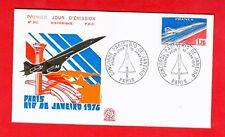 FDC-SUPERSONIC CONCORDE-FIRST FLIGHT-PARIS-RIO DE JANEIRO-1976