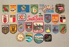 Vintage Lot 25 STATES Yellowstone Park Sonora Desert Lake Tahoe Souvenir PATCHES