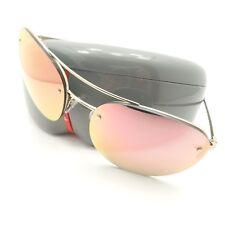c4022fe1933c8 Prada Linea Rossa Sport SPS 51R 7VN-5LZ Gold Pink Mirror Authentic  Sunglasses