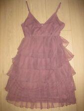 3 SUISSES superbe robe vieux rose à volants 38
