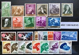 SELLOS DE ESPAÑA AÑO  1958**  NUEVOS SIN HOJAS DE BRUSELAS