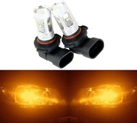LED 30W 9006 HB4 Orange Amber Two Bulbs Head Light Show Use Off Road Lamp