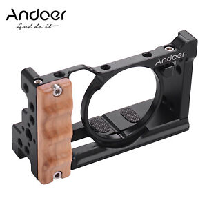 Andoer Metal Aluminum Camera Cage Compatible with Sony RX100 VI/VII with B3W6