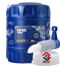 20 Liter MANNOL Diesel Turbo 5W-40 Motoröl 5W40 VW 502 00 / 505 00 CI-4/ + Hahn