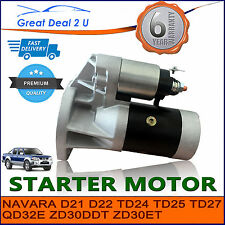 STARTER MOTOR TO FIT NISSAN NAVARA D22 DIESEL & TURBO DIESEL 2.7L 3.0L 3.2L