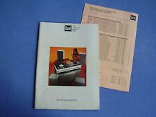 Dual Programm 1974 1975 Preisliste April 1974 Dual Gebr. Steidinger Schwarzwald