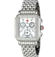 Michele Signature DECO Diamonds MOP Diamond Dial Watch Women's MWW06P000099