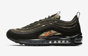Nike Air Max 97 Realtree Mens Shoe Black Orange Camo BV7461-001 Orig. $170