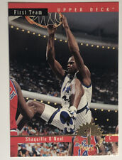 1993-94 Upper Deck All Rookie Team Insert Shaquille O'Neal SHAQ Mad Dunk!