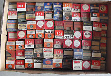 HUGE Lot of 79 Vintage Unsorted Radio and Television and Other Tubes GE RCA ++