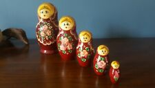 1 Russian nesting Matryoshka wooden doll set,gorgeous hand painted traditional