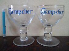 2 Verres Tempelier - Brasserie De Sleutel Betekom  Belgium - Bière - Beer - Bier