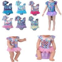 Schöne Puppenkleidung Badeanzug Bademode Puppe Outfit für 18-Zoll-Mädchenpuppen
