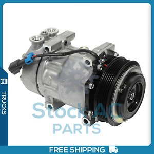 New Sanden Rep 4079 AC Compressor for Kenworth/ Peterbilt 320,382,384,389,587