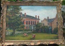 Antique Oil Painting , Cows, framed