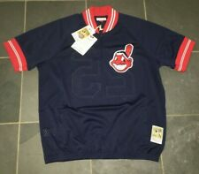NWT Authentic Mitchell & Ness 1995 Cleveland Indians Jim Thome #25 Jersey LARGE