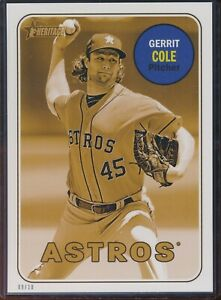 2018 Topps Heritage High Number Gerrit Cole 5x7 Gold Action Image /10