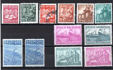 Belgium (2955) 1948 Production and Industry set lightly mounted mint Sg1217-28