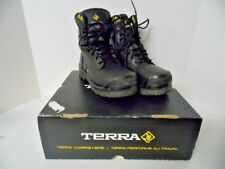 Terra Women's Size 3 Paladin Black Leather Protective Footwear 2988B New $239.99