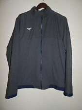 Speedo Full Zip Lined Jacket Gray  Mens Size Large