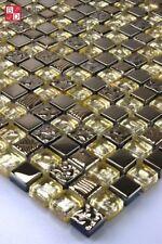 Glasmosaik Mosaikfliesen Fliesenmosaik Mosaik Mosaikglas Mosaike Gold Bronze neu