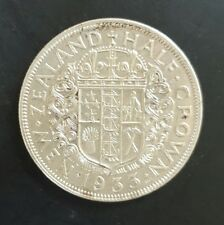 1933  New Zealand Half Crown EF+++