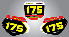 Honda CR 125 1998 - 1999 Custom number Plates Sonic graphics / stickers / decals