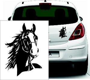 Aufkleber Pferd - konturgeschnitten - Farbe schwarz - Outdoor , Pferde