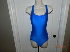 NWOT Speedo One Piece Swimsuit Bathing Suit X Racer Back Women Size 8 Blue Royal