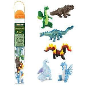Safari Ltd 100416 Drachen der Elemente (6 Minifiguren) Tubos-Röhren Neuheit 2021